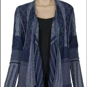 Asymmetrical Mixed Pattern Cardigan